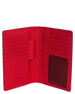 NAVY RED MENS ACCESSORIES HERSCHEL SUPPLY CO WALLETS - 10399-00018-OSNVRD