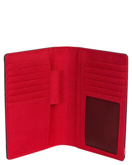 NAVY RED MENS ACCESSORIES HERSCHEL SUPPLY CO WALLETS - 10399-00018-OSNVRD