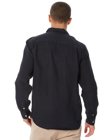 BLACK MENS CLOTHING ACADEMY BRAND SHIRTS - BA801BLK