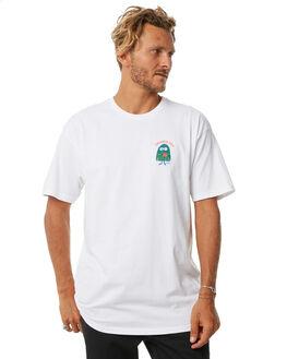 WHITE MENS CLOTHING BRIXTON TEES - 06839WHITE