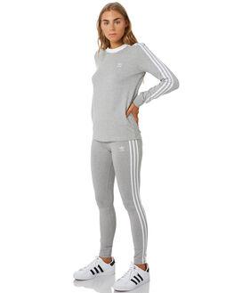MEDIUM GREY HEATHER WOMENS CLOTHING ADIDAS ACTIVEWEAR - CY4761GRY