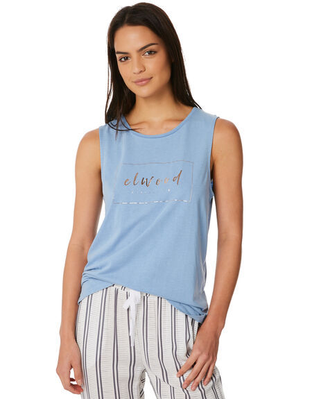 BLUE MIST WOMENS CLOTHING ELWOOD SINGLETS - W84001BLU