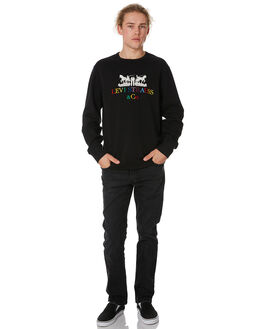 MINERAL BLACK MENS CLOTHING LEVI'S JUMPERS - 17895-0083MNBLK