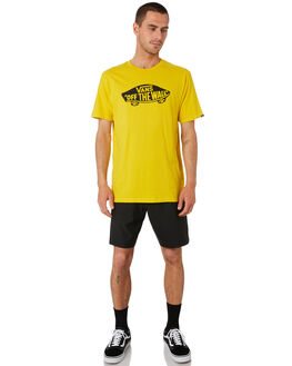 SULPHUR BLACK MENS CLOTHING VANS TEES - VN00JAYHBOYEL
