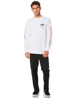 WHITE MENS CLOTHING VANS TEES - VN0A4MRXWHTWHT
