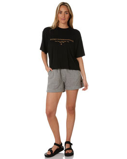 BLACK WOMENS CLOTHING STUSSY TEES - ST193002BLK