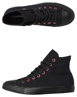 BLACK WOMENS FOOTWEAR CONVERSE HI TOPS - SS163286BLKW