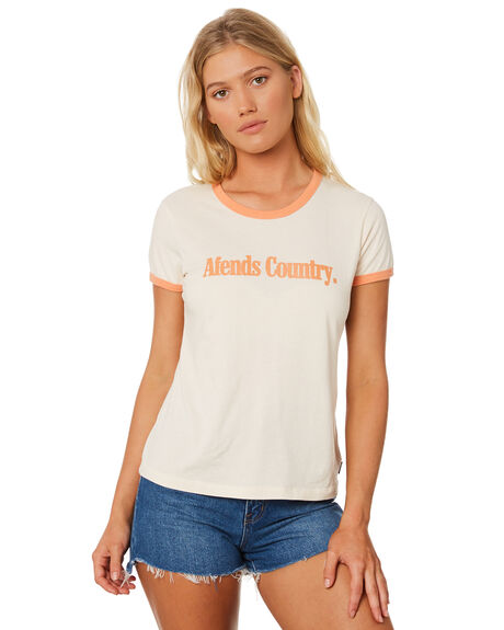 CREAM WOMENS CLOTHING AFENDS TEES - W184010CRM