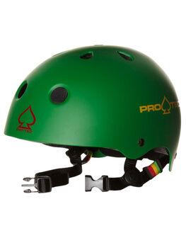 MATTE RASTA GREEN SKATE ACCESSORIES PRO TEC  - 1CSK-MRG
