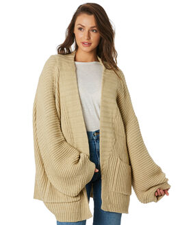 DESERT BEIGE WOMENS CLOTHING THE BARE ROAD KNITS + CARDIGANS - 992141-01DES