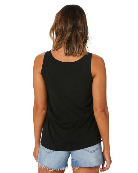 BLACK WOMENS CLOTHING SWELL SINGLETS - S8211006BLACK