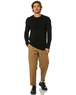 DIRTY BLACK MENS CLOTHING BANKS KNITS + CARDIGANS - WKN0065DBL