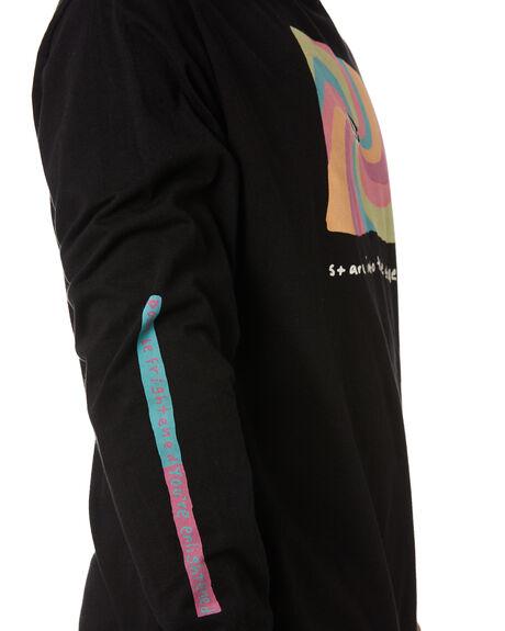BLACK MENS CLOTHING VOLCOM TEES - A3612002BLK