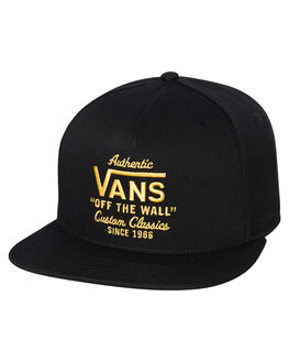 BLACK ZINNIA MENS ACCESSORIES VANS HEADWEAR - VNA36I8B0YBLKZN