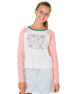 WHITE PINK KIDS GIRLS EVES SISTER TOPS - 9530018PNK