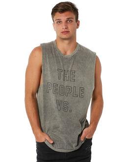 KHAKI MENS CLOTHING THE PEOPLE VS SINGLETS - SS18004KHKI