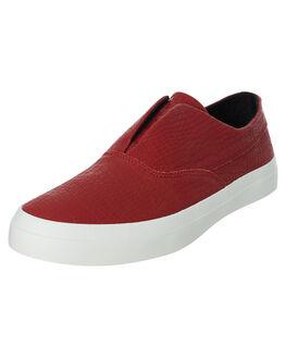 ROSE WOOD RED MENS FOOTWEAR HUF SLIP ONS - VC00087-RWRED