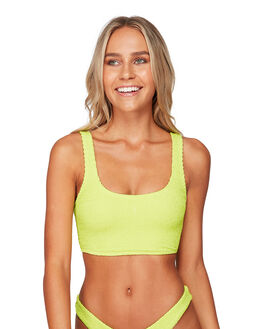 LIME PUNCH WOMENS SWIMWEAR BILLABONG BIKINI TOPS - BB-6591680-LMP