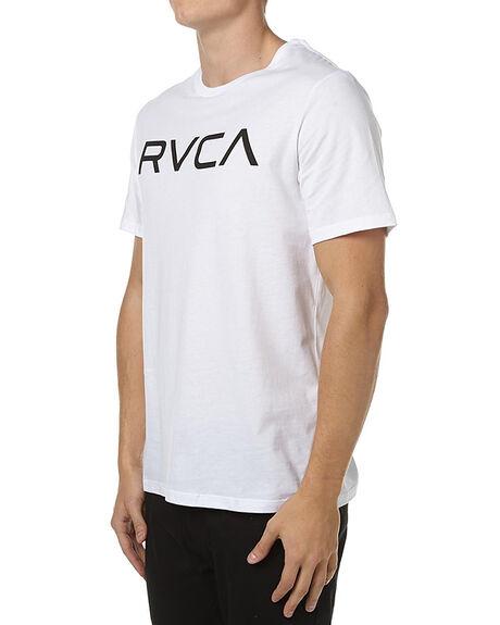 WHITE BLACK MENS CLOTHING RVCA TEES - R161057WHT
