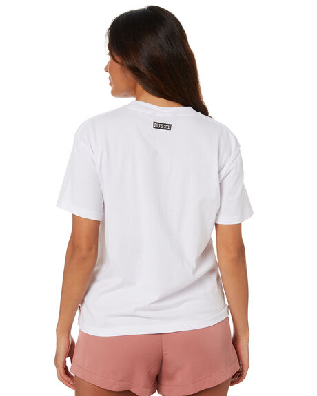 WHITE WOMENS CLOTHING RUSTY TEES - TTL1135WHT