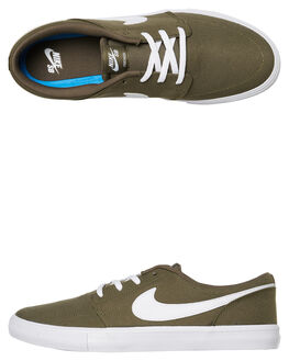 MEDIUM OLIVE MENS FOOTWEAR NIKE SKATE SHOES - 880268-204