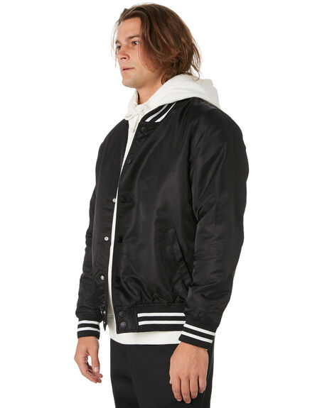 BLACK MENS CLOTHING DEUS EX MACHINA JACKETS - DMP66936BLK