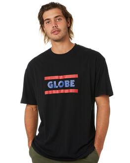 BLACK MENS CLOTHING GLOBE TEES - GB01910000BLK