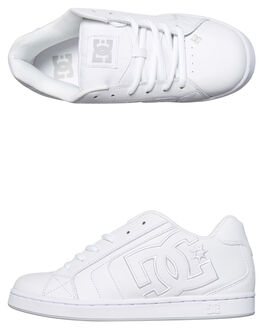 WHITE WHITE MENS FOOTWEAR DC SHOES SKATE SHOES - 302297WW0