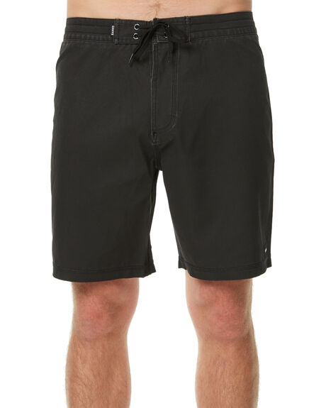 DIRTY BLACK MENS CLOTHING BANKS BOARDSHORTS - BS0072DBL