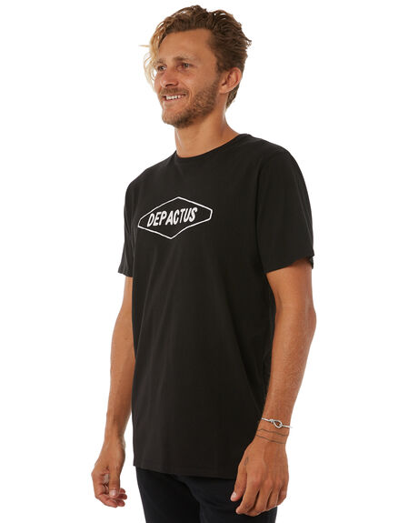 BLACK MENS CLOTHING DEPACTUS TEES - D5183000BLACK