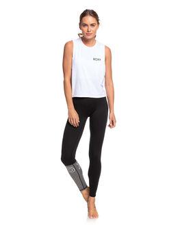 BRIGHT WHITE WOMENS CLOTHING ROXY ACTIVEWEAR - ERJKT03626-WBB0