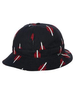 a820ac3003a BLACK RED MENS ACCESSORIES BRIXTON HEADWEAR - 10281BKRED. BRIXTON 1 Banks  Ii Bucket Hat.  69.95