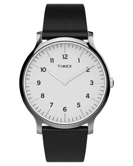 WHITE BLACK MENS ACCESSORIES TIMEX WATCHES - TW2T66300WHTB