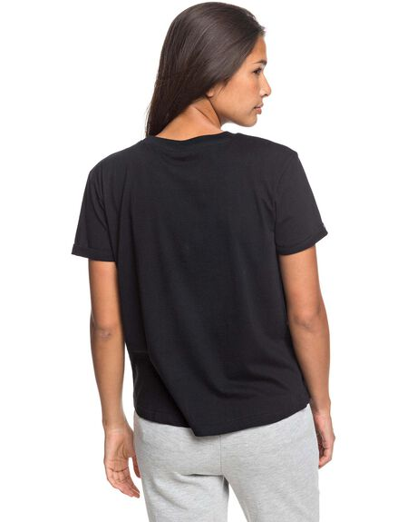 ANTHRACITE WOMENS CLOTHING ROXY TEES - ERJZT04844-KVJ0
