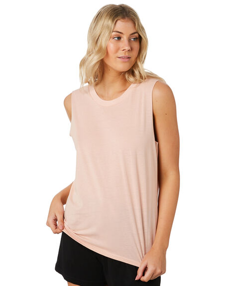 PALE PINK WOMENS CLOTHING AS COLOUR SINGLETS - 4043PPINK