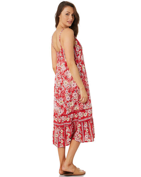 RED FLORAL WOMENS CLOTHING O'NEILL DRESSES - 5321610RFL