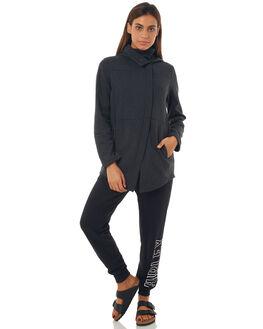 BLACK HEATHER WOMENS CLOTHING HURLEY JACKETS - 941329032
