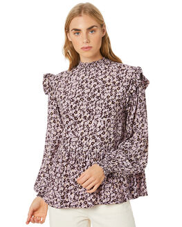 MUSSEE FLORAL ORCHID WOMENS CLOTHING RUE STIIC FASHION TOPS - SW-20-61-2-MFO-VRMFO