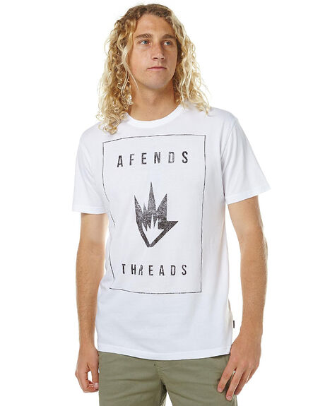 WHITE MENS CLOTHING AFENDS TEES - 01-01-114WHI