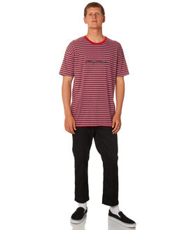 RISKY RED MENS CLOTHING STUSSY TEES - ST082107RSKRD