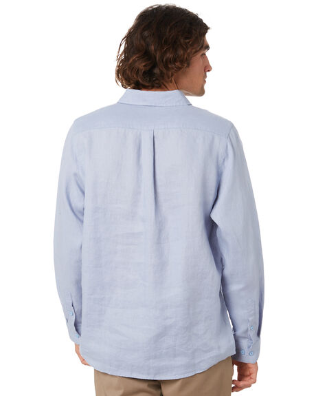 BLUE CHAMBRAY MENS CLOTHING MR SIMPLE SHIRTS - M-05-36-26BLUCH