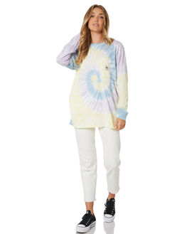 PURPLE WOMENS CLOTHING STUSSY TEES - ST105101PURP