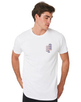 WHITE MENS CLOTHING SANTA CRUZ TEES - SC-MTC9242WHT