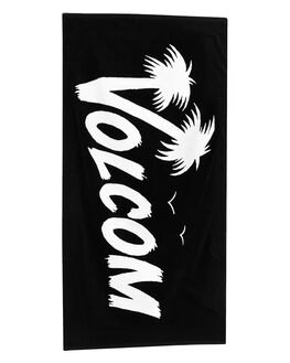 BLACK MENS ACCESSORIES VOLCOM TOWELS - D67418G0BLK