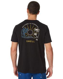 BLACK MENS CLOTHING SWELL TEES - S5182012BLACK