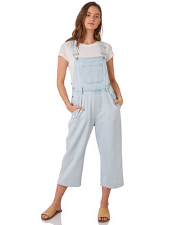 WASHED BLUE WOMENS CLOTHING ZULU AND ZEPHYR PLAYSUITS + OVERALLS - ZZ2915WBLUE