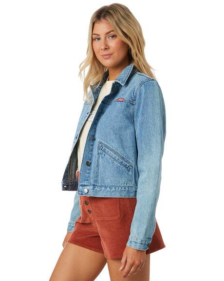 CORTEZ BLUE WOMENS CLOTHING WRANGLER JACKETS - W-951667-MZ8