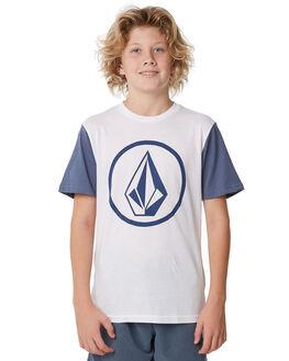 WHITE KIDS BOYS VOLCOM TOPS - C5011872WHT