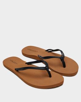 BLACK WOMENS FOOTWEAR VOLCOM THONGS - W0812005BLK