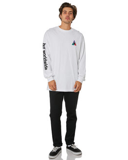 WHITE MENS CLOTHING HUF TEES - TS00563-WHITE